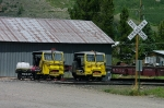 TRACK SPEEDERS AT SILVERTON DEPOT