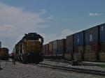 STACK TRAIN PASSING THROUGH LYNDAHL, UTAH