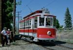 Former Yakima Valley Co. trolley car running near Yakima, Washington