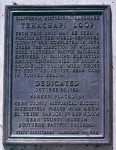 PLAQUE LOCATED AT ROADSIDE OVERLOOK