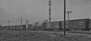 Older freight cars.
